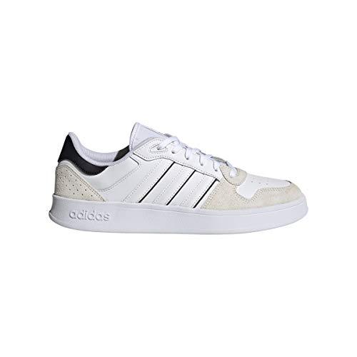 adidas BREAKNET Plus, Zapatillas de Tenis Hombre, FTWBLA/FTWBLA/NEGBÁS, 43 1/3 EU