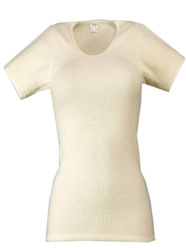 wobera Angora Damen-Unterhemd mit ½ Arm wollweiß Gr. M