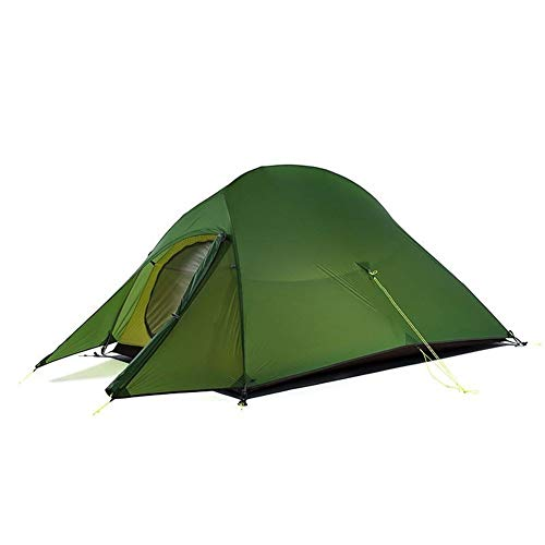 iWDF Ultralight Tent Free Standing 20D Fabric Camping Tents For 2 Person With Free Mat NH17T001-T (Color : 20D Gray(with Skirt))