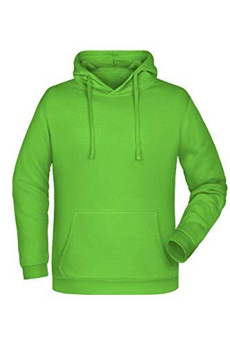 Guuja Sweat à Capuche pour Hommes Hoodie Sweatshirt à Capuchon en Lime-Green Taille: 4XL