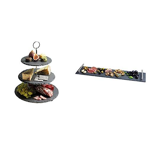 Artesa Kitchen Craft Master Class Alzatina A 3 Livelli In Ardesia & Kitchen Craft Master Class Piatto Da Portata In Ardesia