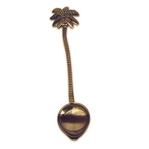 BRTTHYE Legering Vintage koninklijke stijl Kokos Boom Lepel voor Thee Koffie