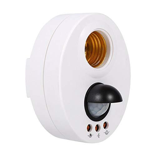 eecoo Casquillo E27 detector de movimiento IR infrarrojos,