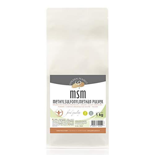 MSM Methylsulfonylmethan Pulver, Reinheitsgrad 99,92%, Lebensmittelqualität 1 kg Beutel