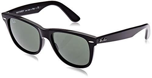 Ray-Ban RB2140 Original Wayfarer Sunglasses, Black/Green, 54 mm