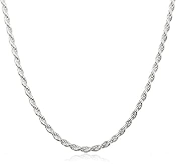 JOTW Sterling Silver 2mm Rope Chain  Sterling-Sterling Silver 24 Inches   I-2592