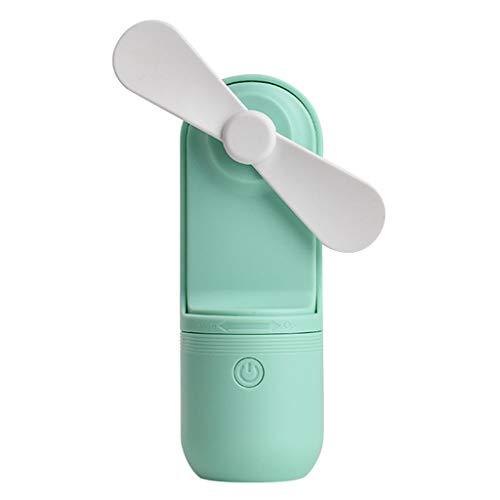 JiaMeng Ventilador Ventilador de Mesa Pequeño Portátil y Silencioso, Mano portátil Tamaño Mini USB Recargable Asimiento de la Mano Ventiladores compatibles