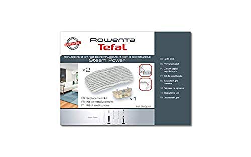Rowenta Kit De Remplacement 2 Lingettes Microfibres + 1 Cartouche Anti Calcaire Compatible Pour Aspirateurs Rowenta Steam Power Accessoire Officiel ZR006501