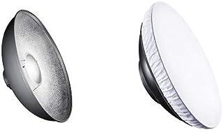 Walimex Pro Beauty Dish (VC Serie, 50 cm) & Pro Beauty Dish Diffusor, 50 cm (für noch weicheres Licht)