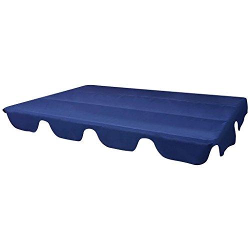Galapara Ersatzdach Hollywoodschaukel/Gartenschaukel/Schaukelbank Gartenliege, Ersatz Bezug Sonnendach Schaukel Dach, Blau 249x185 cm