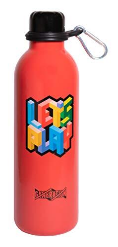 Grupo Erik Botella de Agua Acero Inoxidable con mosquetón Gameration, 500 ml