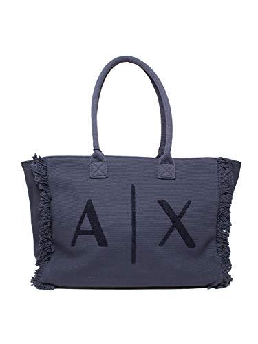 Armani Exchange, MEDIUM SHOPPING para Mujer, azul, Einheitsgröße