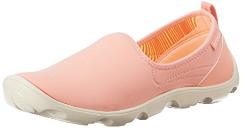 crocs Women's Duet Busy Day Skimmer W Fashion Sneaker, Espresso/Mushroom, 6 M US