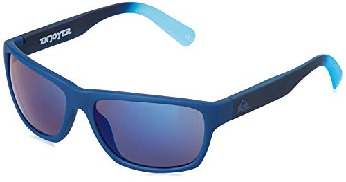 Quiksilver Jungen Sonnenbrille Enjoyer - Sonnenbrille für Männer, Blue/Blue/Blue - Combo, 1SZ, EQBEY03008