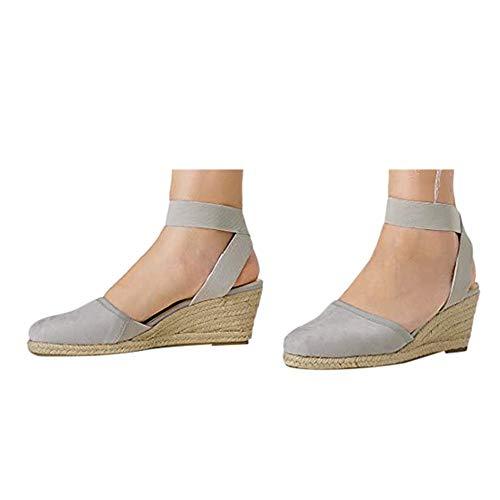 Great Features Of Hemlock Women Wedges Shoes Elastic Ankle Strap Shoes Slip On Platforms 5cm Heels S...