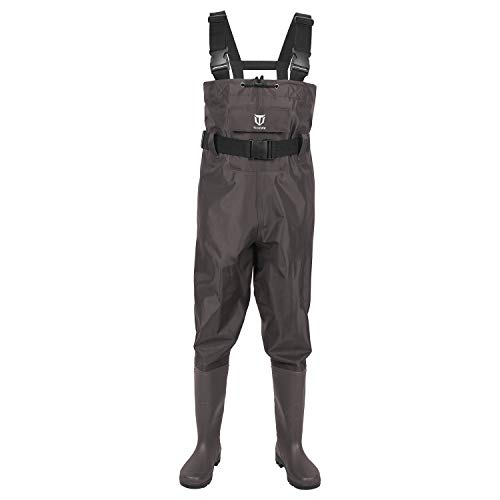 TideWe Bootfoot Chest Wader, 2-Ply Nylon/PVC...