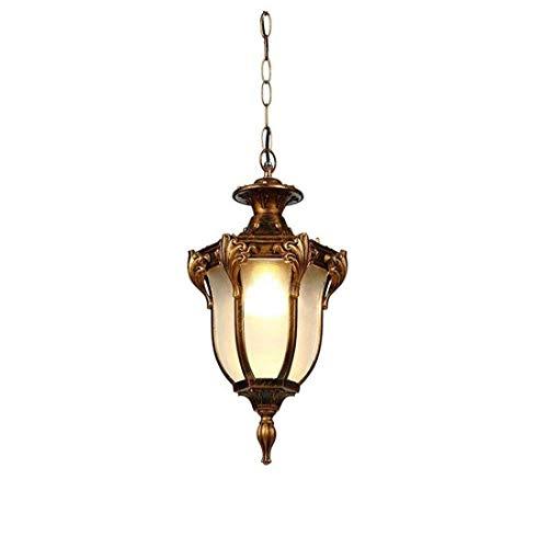 Allshiny Lámpara de Techo Lámpara de Pared de Hierro Forjado Retro Pasillo Lámpara Colgante balcón Pasillo Exterior Villa Paisaje Impermeable Lámpara Anti-óxido Luz