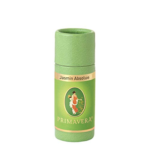 PRIMAVERA Ätherisches Öl Jasmin Absolue 1 ml - Aromaöl, Duftöl, Aromatherapie - euphorisierend, entkrampfend, entspannend - vegan