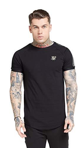 Sik Silk Camiseta S/s Raglan Tech Negro XS