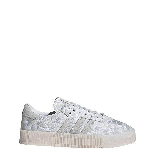 adidas SAMBAROSE - Zapatillas para mujer, Blanco (Blanco Nube / Cristal Blanco / Metal Dorado), 36.5 EU