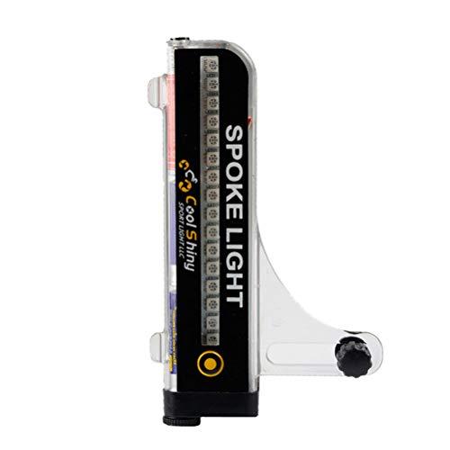 WSTERAO Luz de radios de Bicicleta Luces de radios de Rueda de Bicicleta a Prueba de Agua, reflectores de radios reflectores de Bicicleta reflectores de radios para Ciclismo Seguro