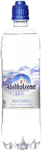 Adelholzener Mineralwasser Naturell Sportslock, 8er Pack, Einweg (8 x 750 ml)