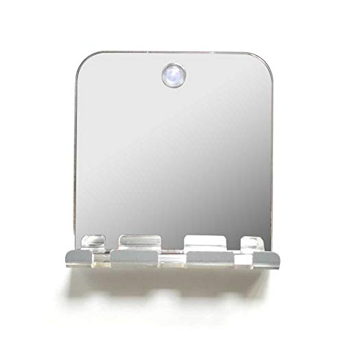 Direct Fogless Shower Mirror, Portable Unbreakable Anti-fogging Bathing Mirror for Shaving Fogless -