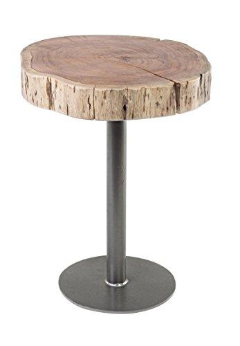 Bizzotto Benson bijzettafel D42, hout, bruin, 42x42x50 cm