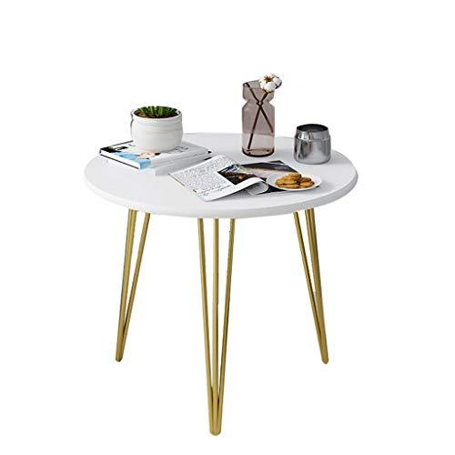 BIAOYU Camera da Letto Small Coffee Table Semplice Tavolo Nordic Tavolo per Il Tempo Libero Negozio Piccolo Tavolo Rotondo Soggiorno Tavolo da tè Piccolo (40/50 / 60 cm) Tavolino