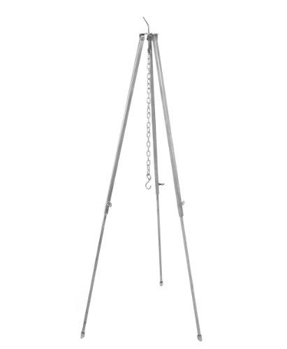 Gulaschkessel Dreibein Teleskopgestell 130 cm aus Edelstahl