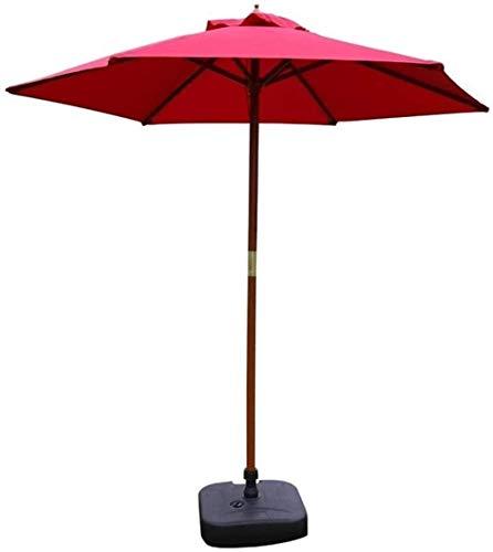MFLASMF Housewares - Parasol para jardín, 2,7 m, 2,7 m, impermeable, para exteriores, para playa, piscina, patio, protección UV 50+, portátil, plegable, color rojo