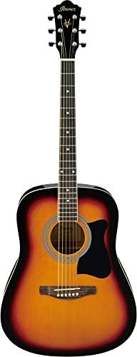 IBANEZ Jampack Akustikgitarren-Set mit Dreadnought Gitarre - Vintage Sunburst inkl. Tasche und Zubehör (V50NJP-VS)