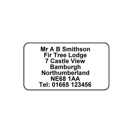Address sticker. Return address label Custom address label Self-adhesive address label