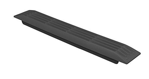 Attwood 1494A5 Rejilla ventilación venturi, color negro, 51 mm x 390 mm