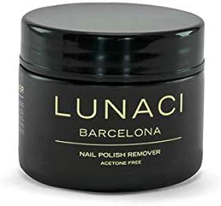 Lunaci Barcelona Quitaesmalte Fórmula suave y eficaz, sin acetona Esponja sin acetona, Sponge Nail Polish Remover, 40 ml