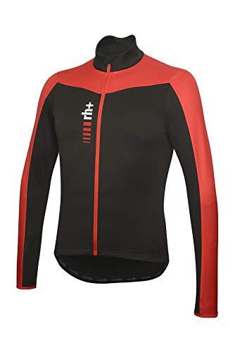 rh+ Blaze - Jersey para Hombre, Color Negro y Rojo, Talla S