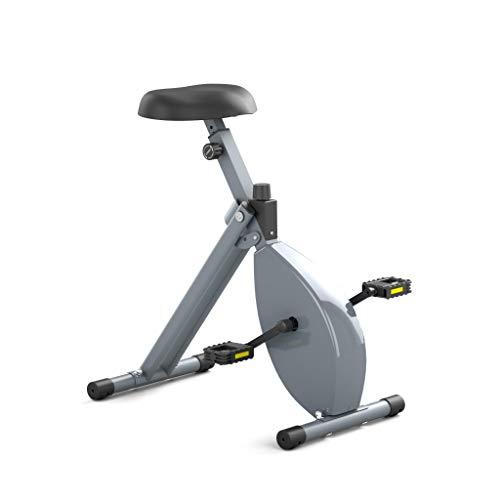 Deskbike – Bicicleta ergómetro pequeño – con sensor de frecuencia de pedaleo y sensor de velocidad – Tamaño del cuerpo 140 – 165 cm – Altura mínima del escritorio 105 cm (marco gris/gris)