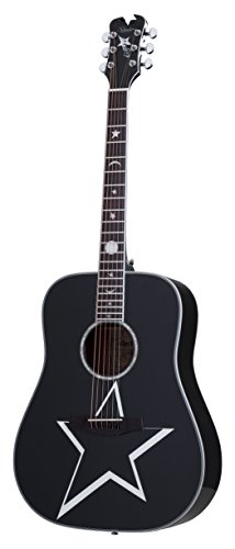 Schecter 6 String RS-1000 Busker Acoustic, Gloss Black (283)