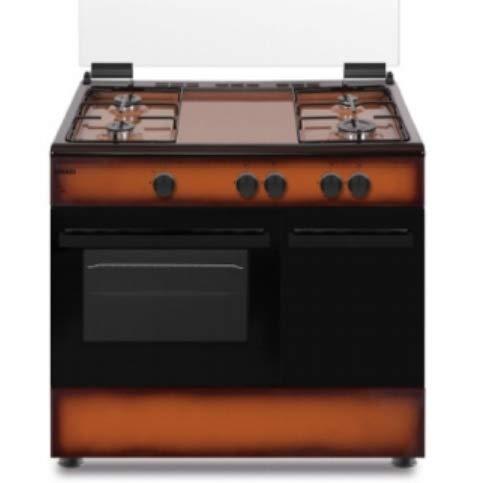 Cucina a Gas con Forno a Gas Statico, N° 4 Fuochi, 90x60 cm