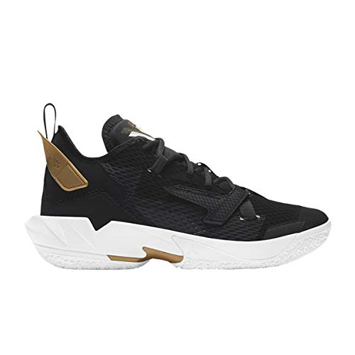 Nike Jordan Why Not ZER0.4, Zapatillas de bsquetbol Hombre, Black White Mtlc Gold, 50.5 EU