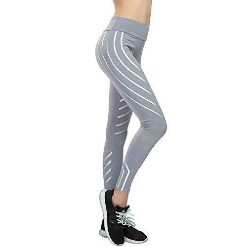 YGKDM Vrouwen Yoga Broek Sport Hardlopen Sportkleding Fitness Leggings Oefening Gym Compressie Panty's Broek Noctilucent Gloeiend