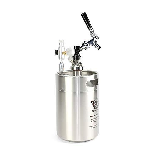 Triplej 5L Mini 304 Stainless Steel Keg Craft Beer Dispenser ball l