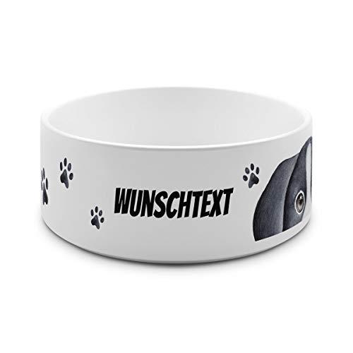 printplanet® - Futternapf mit Name oder Text Bedruckt - Für Hunde - Napf Hundenapf Wassernapf selbst gestalten - Motiv: Tatzen-2