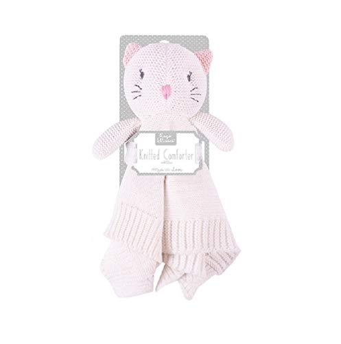 Baby Soft Knitted Bunny or Cat Comforter Blanket (Kitten)