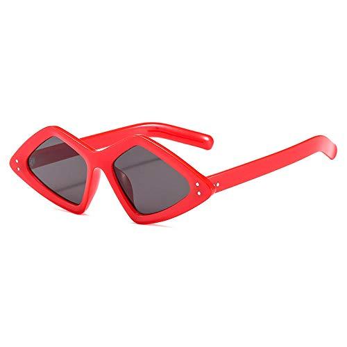 ZZZXX Gafas De Sol Para MujerTriángulo De Tendencia De Moda Polarizadas Uv400 Protección Para Conducir Pesca Al Aire Libre Marco De Acetato,Con Caja De Regalo Y Paño Para Vasos