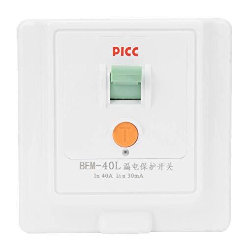 40A 230V Fehlerstromschutzschalter, Berm® BEM-40L 86 Leckschutzschalter, Elektromagnetischer Fi Schutzschalter Steckdose