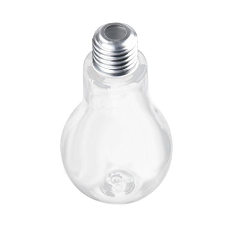 Leoy88 New Light Bulbs Cup Creative Bulb Water Bottle Brief Cute Milk Juice Light Bulbs Leak-proof Cup (500ml)