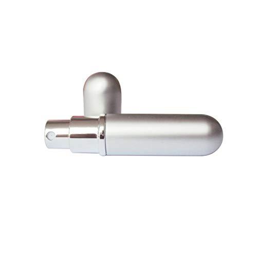 Da.Wa 1 Flacon Pulvérisateur Flacon de Parfum à Vide Plat pour Bouteille à épaulement Rond Pulvérisation Simple pour Recharge Liquide 5ml - Argent