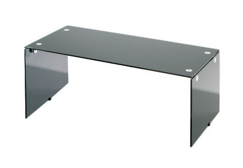 Premier Housewares 2401784 Tavolino da caffè in Vetro Temperato, 39x45x90 cm, Nero