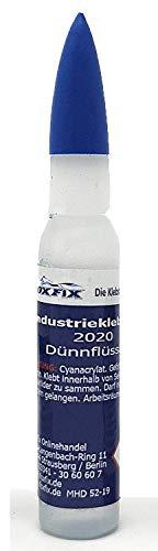 FoxFix® 5g Industriekleber 2020 P Patrone fein dosierbar für Kunststoff (PVC GfK ABS) Metall Aluminium Holz Gummi Stein Keramik Porzellan